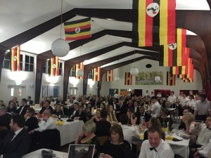 Guests enjoying the Uganda themed dinner